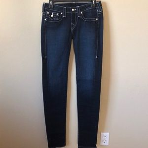 True Religion Skinny Jeans w/Pearl Buttons